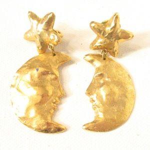 Jewelry - Moon & Stars Clip Earrings 1990s
